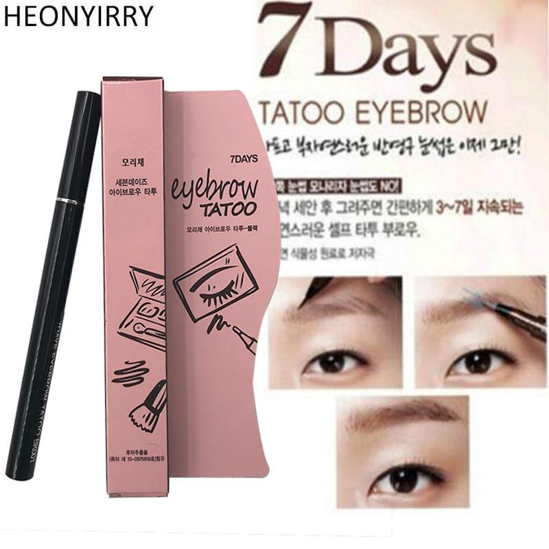 2018 New Eyebrow Enhancers Waterproof Pencil Women Makeup Product Brown 7 Days Eye Brow Eyebrow Tattoo Pen Liner Makeup Tools