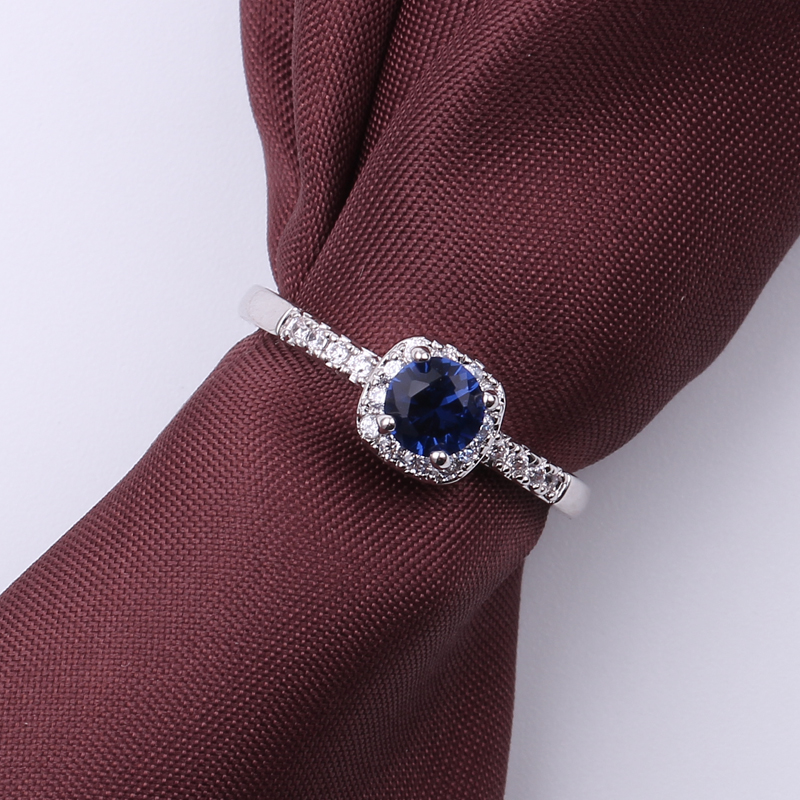 White CZ Round Zircon Rings for Women Silver Color Copper Ring Jewelry Promise Engagement Rings For Her Valentines Day Presents