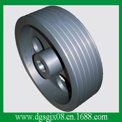 Hard Anodized cast Aluminum wire guide pulley   Extruding machine idler pulley chrome oxide plated steel wire guide pulley for wire industry