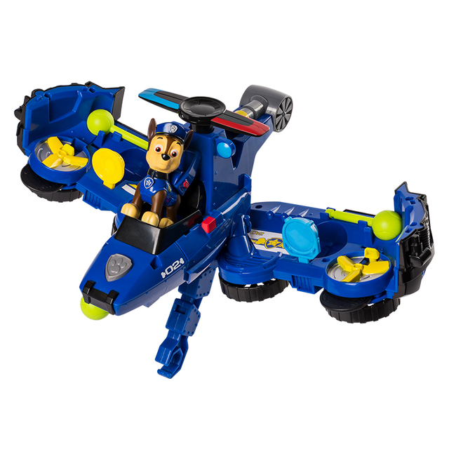 Paw Patrol Action Toy Figures Patrol Car Catapult Deformation Aircraft Assembly 2-in-1 Toy Set Children Toys Birthday Gift