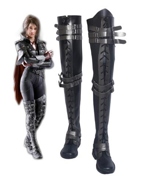 Final Fantasy XV Crowe Altius Cosplay Boots Shoes Anime Halloween Party Cosplay Boots Custom Made for Adult Women Long Shoes