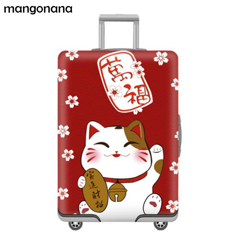 FOLPPLY Halloween Cartoon Ghost Pumpkin Luggage Cover Baggage Suitcase Travel Protector Fit for 18-32 Inch