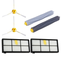6Pack Side Brushes Debris Extractor Hepa Filter For Irobot Roomba 980 960 800 860 880 For Irobot Roomba Accessories|Vacuum Cleaner Parts|Home Appliances -