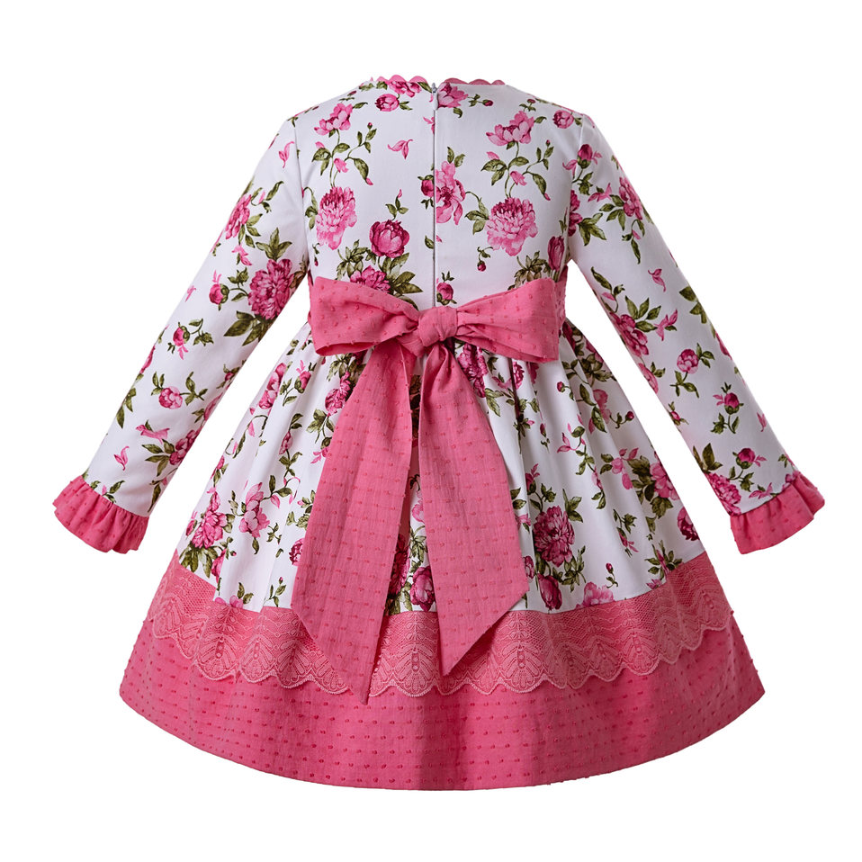 bb3bc2198 Pettigirl 2019 Latest Vintage Pink Flower Princess Party Baby Girl Dress  Kids Dresses For Girls With Headband G DMGD110 B450-in Dresses from Mother  & Kids ...