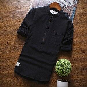 Image 5 - 2019 été marque Chemise hommes mode demi manches Chemise coton respirant Chemise hommes grande taille hawaïenne Chemise Homme