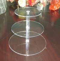 2016 new hot sale Acrylic cupcake stand Round Cake Stands for Wedding Party Cake Display Decoration 3 Tier cupcake holder