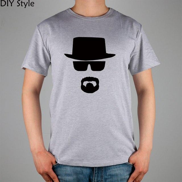BREAKING BAD black hat sunglasses mustache awesome T-shirt Fashion Brand  men t shirt new high quality 1c1108d05ba