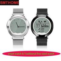 M6 Erste Neue Smart Uhr Traditionellen Stahl Uhr Echtzeit Pulsmesser Schrittzähler Schlaf Tracker Fitness Uhr Wasserdicht