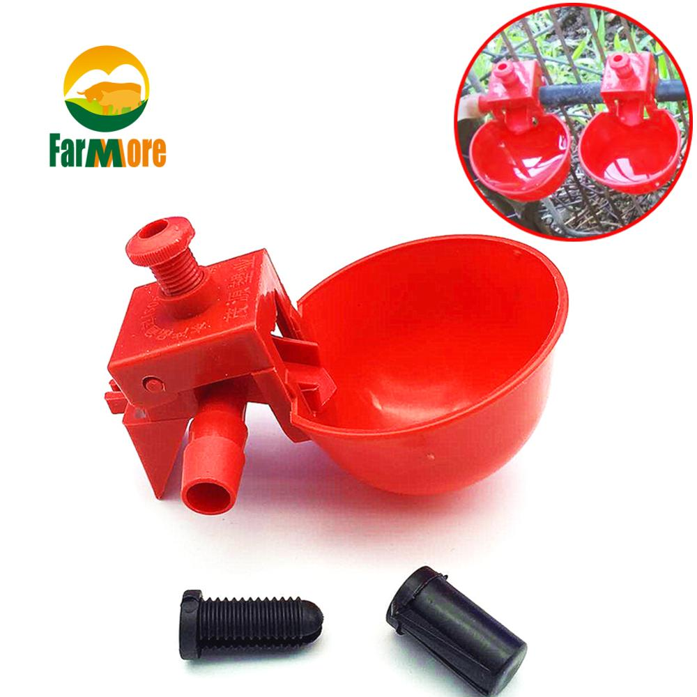 5pcs Chicken Drinker Drinking Cups For Chickens Red Quail Chicken Waterer Bowl Automatic Poultry Coop Feeder Water Drinking Cups