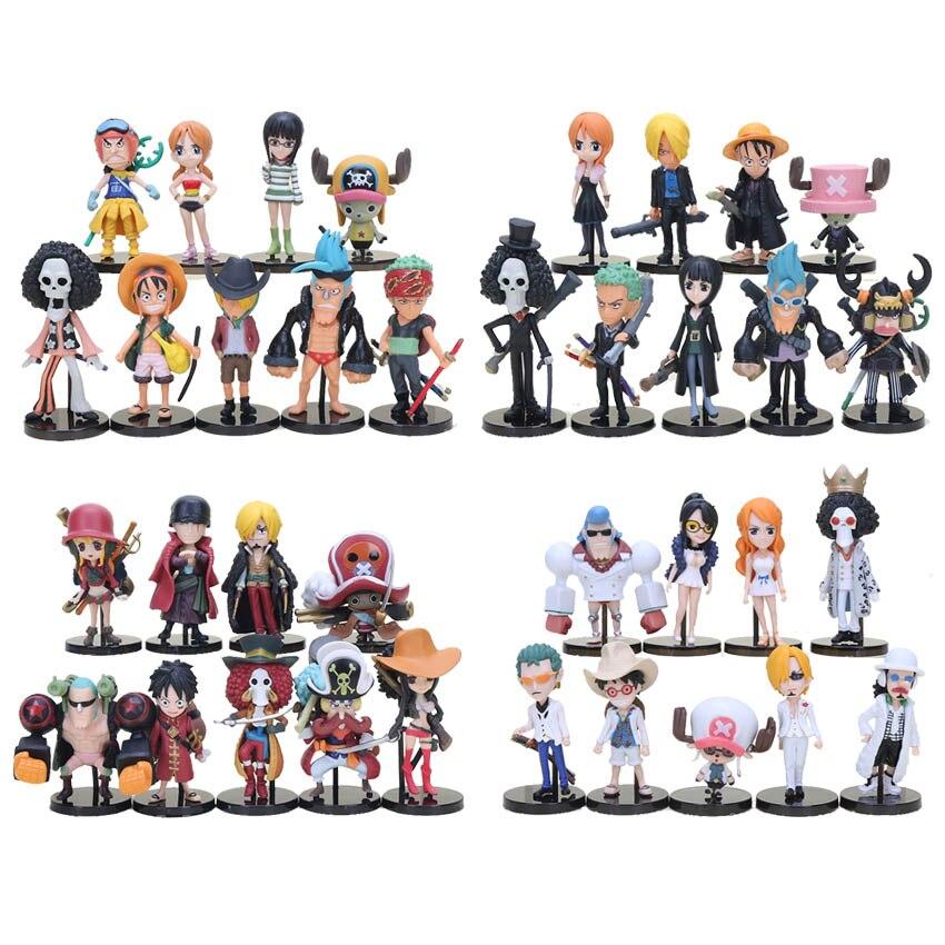 9 шт./компл. Аниме One Piece ПВХ экшн-фигурки милые фигурки игрушки куклы Коллекционные модели игрушки Brinquedos