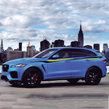 World Datong Sport Stripes Car Stickers For Jaguar F-PACE E-PACE I-PACE Exterior Side door Decal Car Vinyl Film