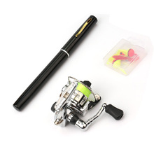 EMMROD 1M Mini Portable pen-fishing Small Sea Otter Throwing Sandpiper Rod XH1 Free Shipping