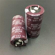 10 pces 1000 uf 250 v nippon ncc kmr série 25x50mm downsized 250v1000uf snap in psu alumínio capacitor eletrolítico