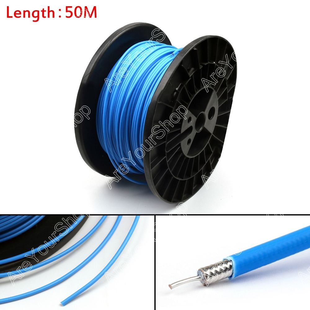 Sale 5000cm RG402 RF Coaxial Cable Connector Semi-rigid RG-402 Coax Pigtail 164ft High Quality Plug Jack Adapter Wire Connector sale high quality 10pcs rf antenna catv tv fm coaxial cable pal male jack plug adapter connector mini plug jack