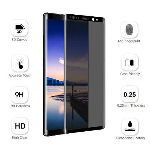 50pcs Note8 3D Curved Anti glare Full cover Tempered Glass Screen Protector for sumsung note 8 S8 S9 Plus S8PLUS Privacy Film