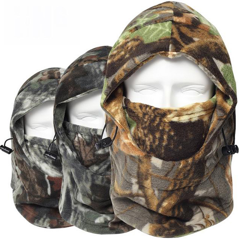 Winter Warmer Fleece Camouflage Cap Balaclava Outdoor