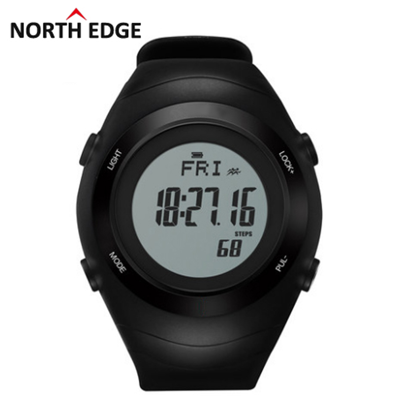 NORTHEDGE 2016 Sports font b Watch b font Heart Rate Monitor Sensor 3D Pedometer font b