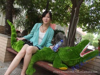 filling toy so large 220 cm green crocodile plush toy soft throw pillow,Valentine's Day, birthday gift w5395