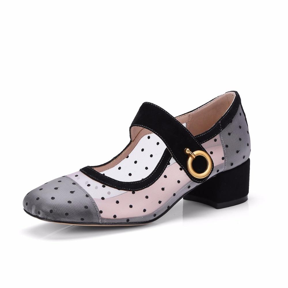 Populaire Fille Noir Noir gris À Pompes Conception Pois Mary Lolita Chaussures Ballet Femmes 2018 Maille De Vintage Janes v5qwxTtgF