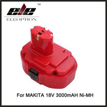 Eleoption 18V 3.0Ah 3000mAh Rechargeable Power tool Battery For Makita 18 Volt 192827-3 192826-5 1822 1823 Free Shipping