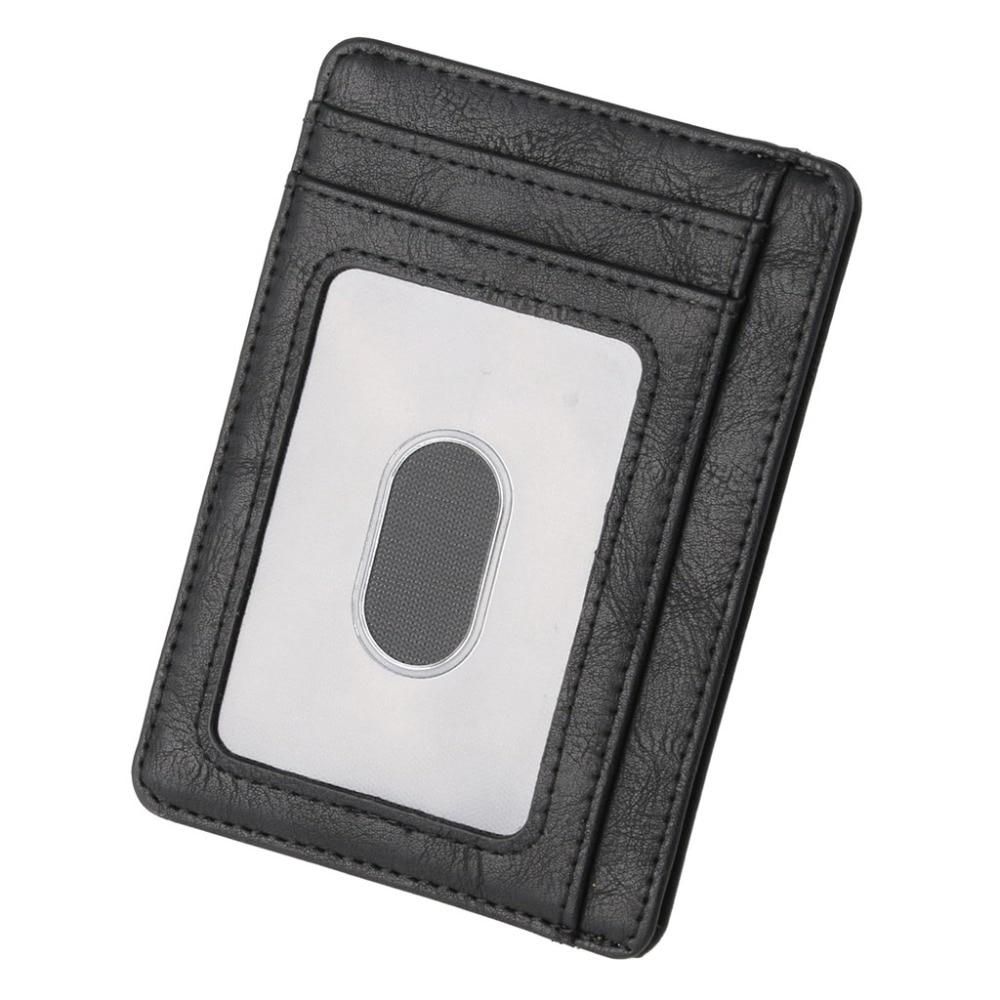 THINKTHENDO Slim RFID Blocking Leather Wallet Credit ID Card Holder Purse Money Case For Men Women 2018 Fashion Bag 11.5x8x0.5cm