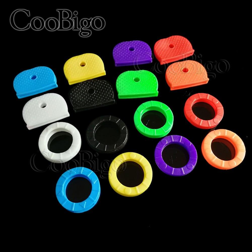 16pcs Mixed Colors Key Chain Rings Car Motorcycle Bicycle Key Caps