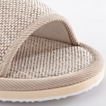 Natural Flax Home Slippers Indoor Floor Shoes Silent Sweat Slippers For Summer Women Sandals Slippers 37-43 5