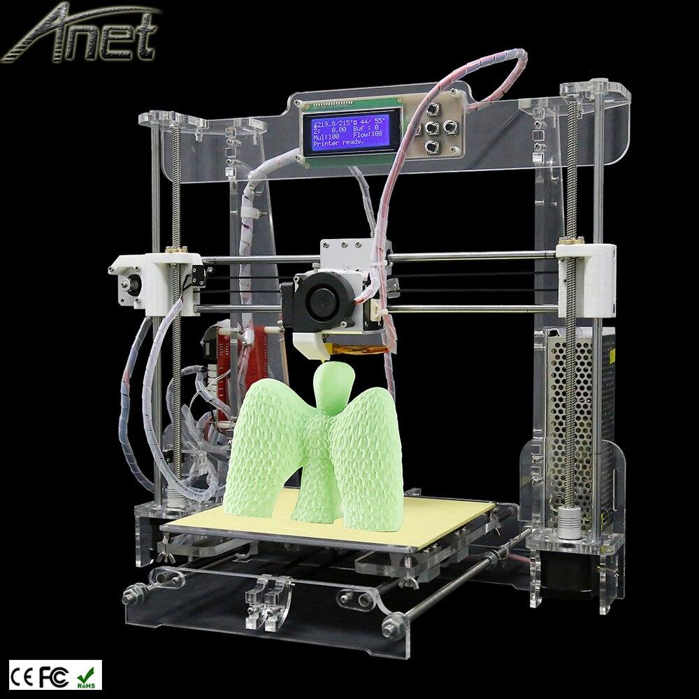 Anet A8 impresora 3d printer High Precision Reprap Prusa i3 3d printer DIY kits With 1 Roll Filament 8GB SD Card And LCD Screen newest high quality precision reprap prusa i3 3d printer diy kit with 25m filament 8gb sd card and lcd free
