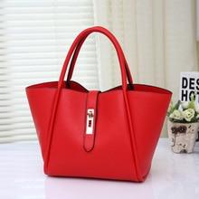 Famous Brands Handbags 2016 Luxury Elegant Female Big Bags popular Women's PU Leather Handbag 2 Pcs/Set Women Messenger Bag