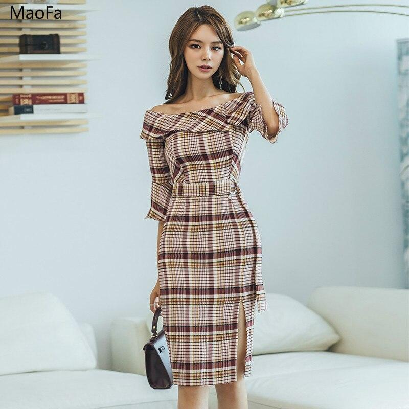 2018 femmes robe Sexy partie moulante Vintage ajusté demi manches élégant décontracté bureau dame vêtements Clubwear