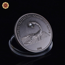 Crystal Scorpions Antique Coin Wildlife Protection Brass Coins for Promotional Souvenir Replica Antique Coin