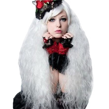 Amir Cosplay white wig for Women lady girl fluffy wig long Kinky straight  Black Orange Pink Blonde colors for Cosplay wigs