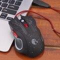 Projeto profissional 6D Luminescência Casa Jogo Gaming Mouse 6 Botões Ajustável Confortável Jogando Jogo Do Rato