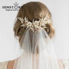 Романтическая Золотая свадебная расческа для волос ручной работы