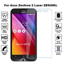 2 шт закаленное стекло для Asus Zenfone 2 Laser ZE500KL защита экрана Flim Защитное стекло для Asus Z00ED ZE ZE500 500 500KL KL
