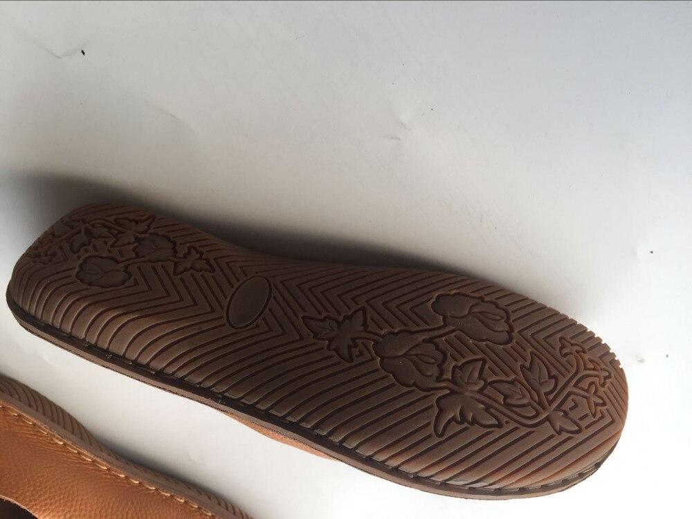 Couleurs brown Mori Paresseux Plat Fille Careaymade En Rétro Chaussures Art véritable Coffee Occasionnels Main Pur 2 CuirFait ChaussuresFemmes Le yYf7b6gv