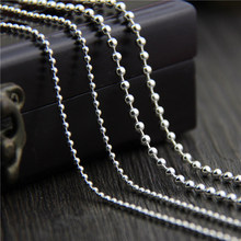 C&R Real 925 Sterling Silver Necklace Round beads chain sweater chain necklace for men women long necklace Fine Jewelry цена