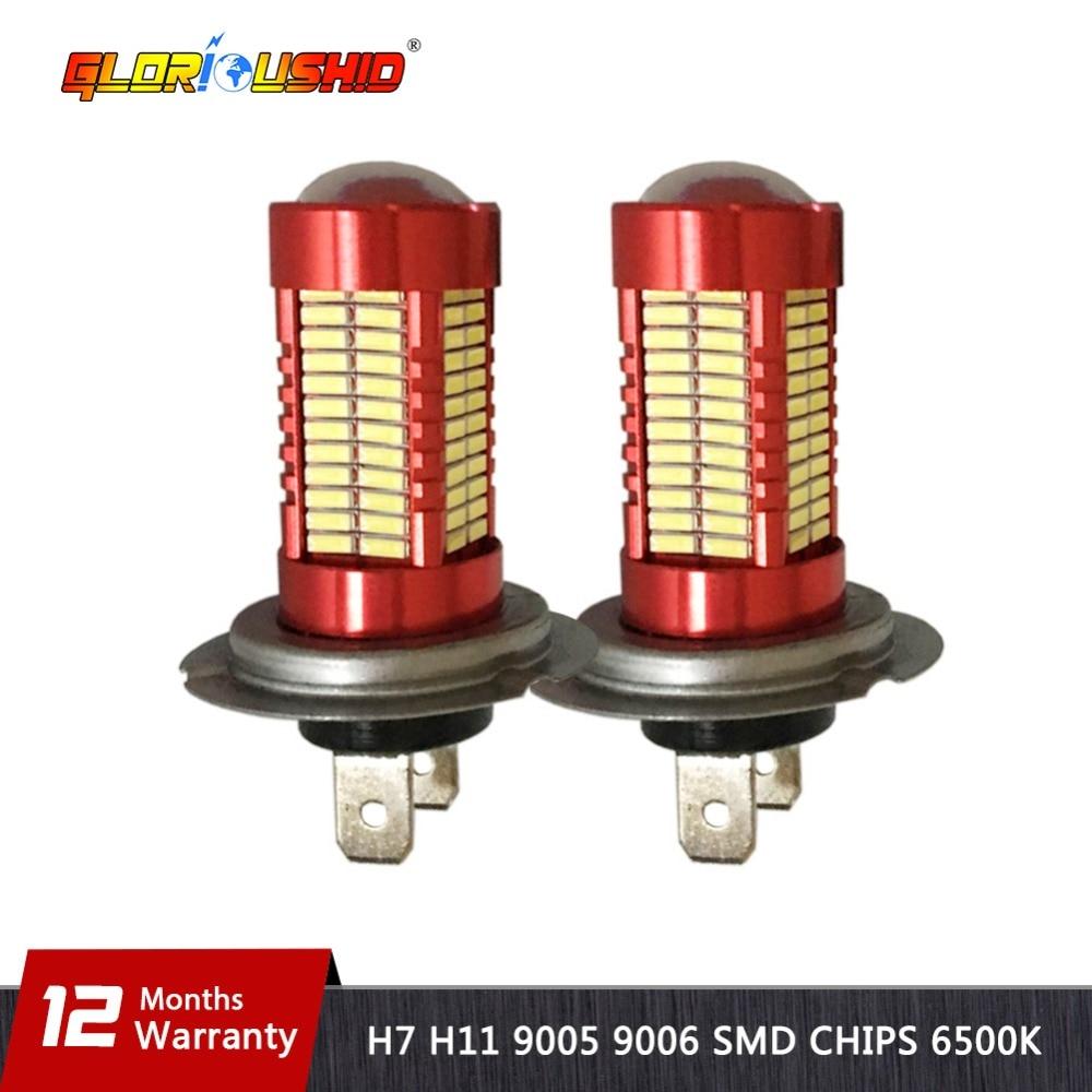 Satu Set H7 LED H11 9005 9006 Mobil Fog Light Bulb 6500 k Putih Lampu - Lampu mobil - Foto 1
