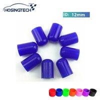 Tintake HOSINGTECH-12mm سيليكون نهاية كاب ل الهواء خرطوم الأنابيب 10 قطع غيار السيارات