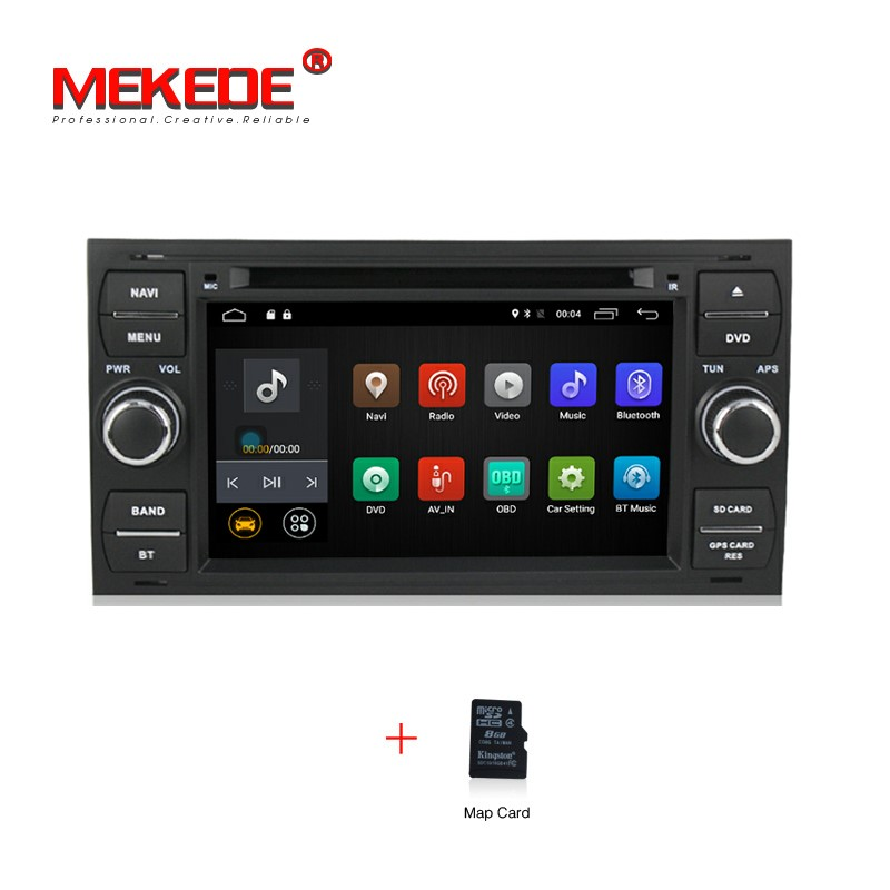 Quad Core Android 7 1 2G RAM Car Radio stereo DVD For Mondeo Fiesta Kuga Focus