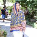 Hot Women Autumn Winter Bohemia Cotton Scarf Long Scarves Painted Soft Long Wraps Shawl Scarves Scarf foulard from india WAug19