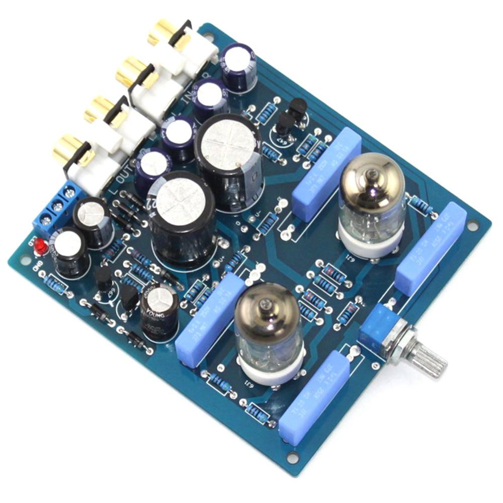 6J1 2200UF/63V AC12V 0 AC12V 15W DIY Tube PreAmplifier Finished Board YJ0072-in Amplifier from Consumer Electronics