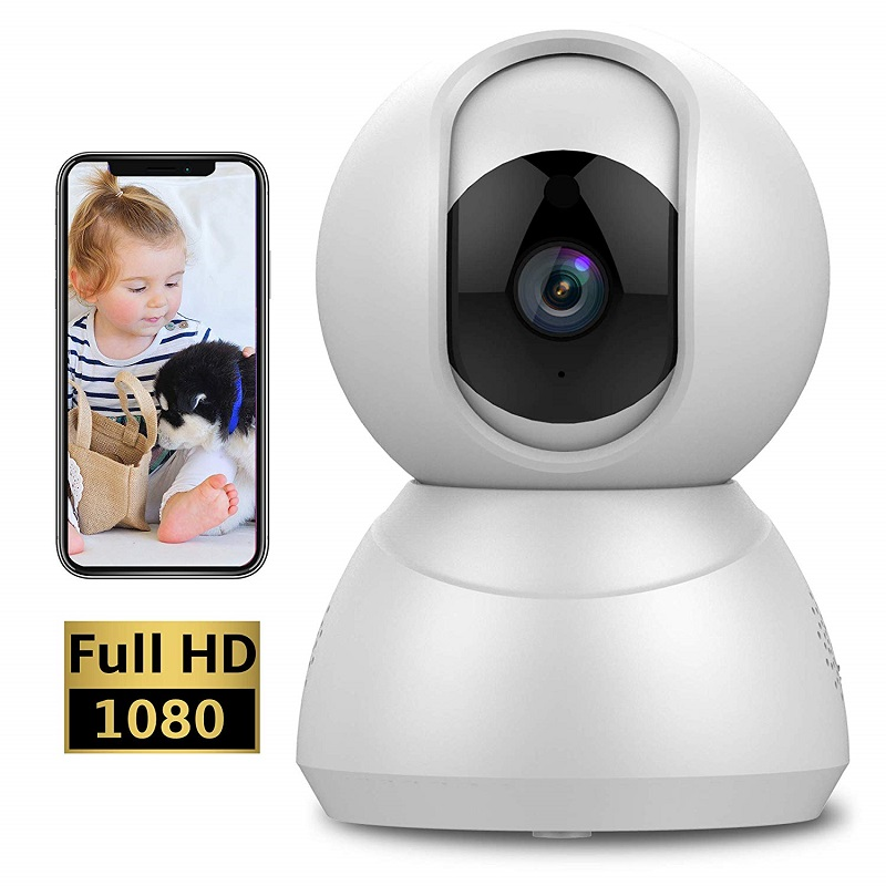 1080P Speed Dome Camera Wireless Indoor Smart Security IP Camera with Motion Detection Night Vision Two