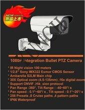 S2L + SONY IMX322 HD 1080 P IP Камера 30X Моторизованный Авто Зум вариофокальный 2-МЕГАПИКСЕЛЬНАЯ Открытый КУПОЛЬНЫЕ Ip-камеры ик Onvif ВИДЕОНАБЛЮДЕНИЯ наблюдения