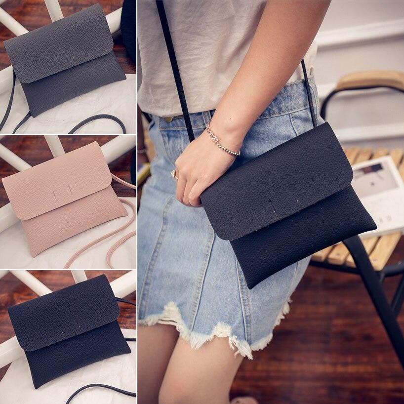 Fashion Women Small Messenger Bag PU Leather Shoulder Bags Crossbody Envelope Purse Handbag LT88