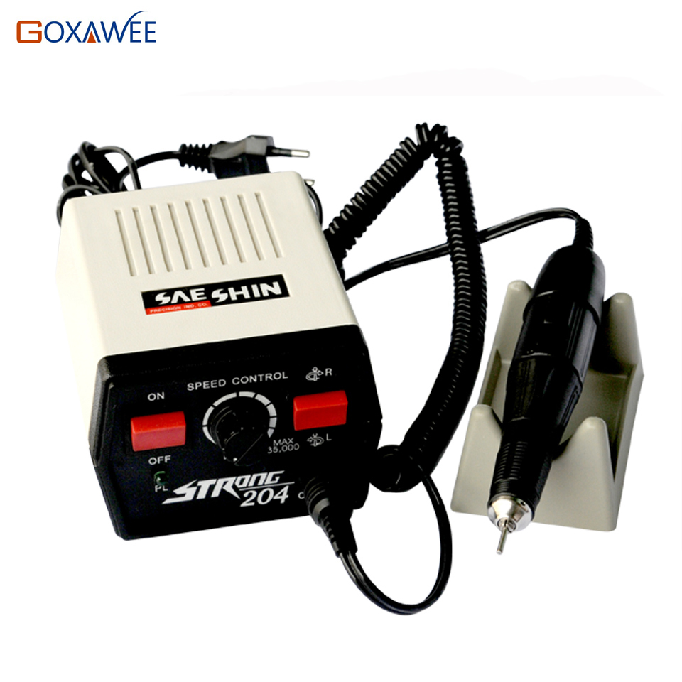 GOXAWEE 0-35000RPM  Strong 204 +102L Micro Motor Electric Motor Dental Micromotor Dental Lab Marathon Micromotor Shank 2.35mm разбрызгиватель вращающийся karcher rs 120 2 2 645 020