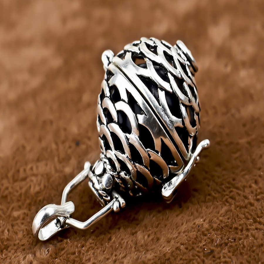 AOBOCO Pine cone รูปร่าง Harmony Bola Ball Locket จี้เครื่องประดับสำหรับของขวัญสตรี