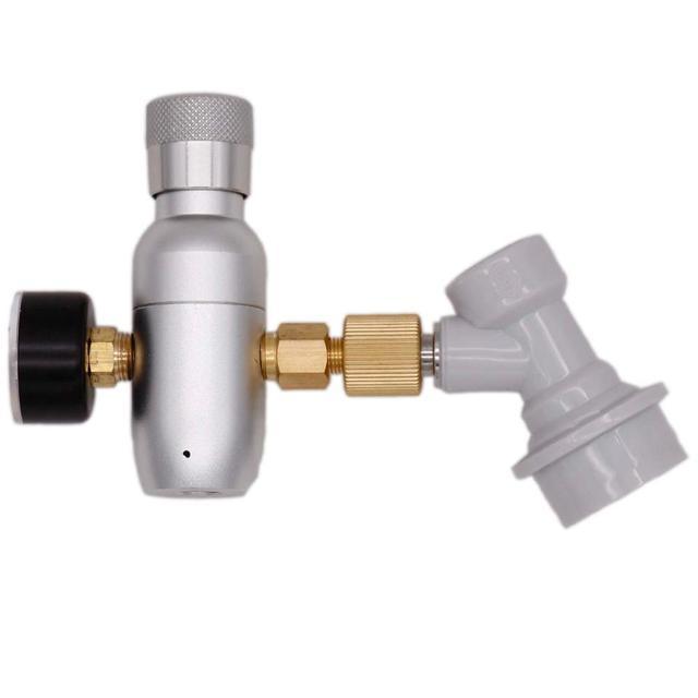 Homebrew Kegging Premium Gereglementeerde Compact CO2 Charger met Bal Lock Gas Disconnect 60/150 psi 3/8 18UNF Gratis Verzending