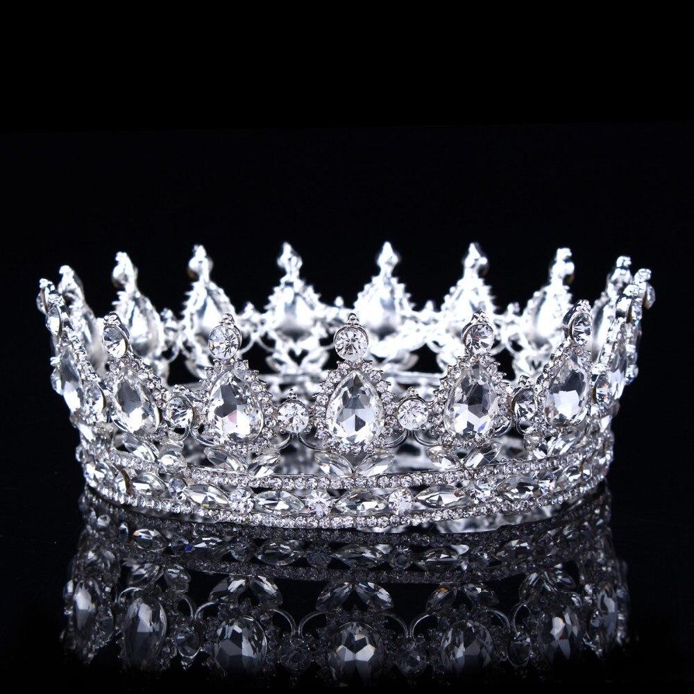 2017 hot european designs vintage peacock crystal tiara wedding crown bridal tiaras accessories rhinestone tiaras crowns