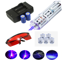 Most powerful Blue Laser Pointer 450nm1000m Focusable High power Lzser Pointer burn match candle burning cigarette Cigars